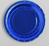 Тарелка бумажная набор 6шт, цвет синий