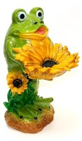 Гипс фигурка Лягушонок с цветком