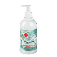 Крем-мыло жидкое AURA Антибактериальное , 500мл КК/ 8 07378/2629