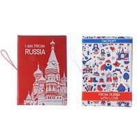 Обложка для паспорта с удерж резинкой с отд для вод удост 13,7*9,6*0,4