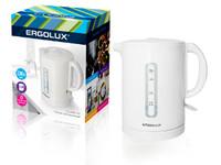 ERGOLUX ELX-KH01-C01 белый (чайник пластиковый, спираль, 1.7л, 160-250В, 1500-2300Вт)