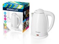ERGOLUX ELX-KS02-C01 белый (чайник нерж.сталь/пластик, 1.8л, 160-250В, 1500-2300Вт)