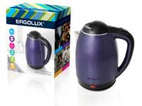 ERGOLUX ELX-KS02-C49 сине-черный (чайник нерж.сталь/пластик, 1.8л, 160-250В, 1500-2300Вт)