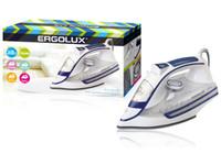 ERGOLUX ELX-SI03-C35 белый/синий (паровой электр. утюг, керамика, 2600Вт, 220-240В)