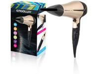 ERGOLUX ELX-HD03-C64 черный/золото (фен со складной ручкой, 2200Вт, 220-240В)