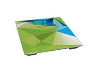 ERGOLUX ELX-SB03-C34 абстракция зелено-синяя ( весы напольные до 180 кг, LED подсветка)