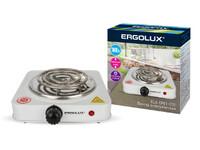 ERGOLUX ELX-EP01-C01 белая (электроплитка, 1 конф., спиральный нагр.эл.1000Вт, 220-240В)