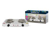 ERGOLUX ELX-EP02-C01 белая (электроплитка, 2 конф., спиральный нагр.эл.2000Вт, 220-240В)