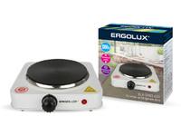 ERGOLUX ELX-EP03-C01 белая (электроплитка, 1 конф., дисковый нагр.эл.1000Вт, 220-240В)