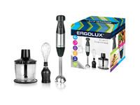 ERGOLUX ELX-BS02-C72 серебристо-черн (блендерный набор:измельчитель,венчик, блендер.700Вт,220-240В)