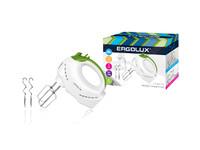 ERGOLUX ELX-EM01-C34 бело-салатовый (миксер ручной 200 Вт, 220-240В)