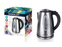 ERGOLUX ELX-KS04-C72 матово-черный (чайник нерж.сталь,окно,LED подсв,1.8л, 160-250В, 1500-2300Вт)