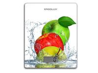 ERGOLUX ELX-SK02-С01 белые, яблоки (весы кухонные до 5 кг, 195*142 мм)