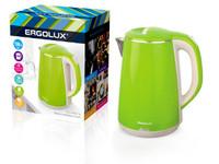 ERGOLUX ELX-KS06-C16 светло-зеленый (чайник нерж.сталь/пластик, 1.8л, 220--230В, 1500Вт)