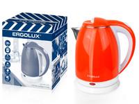 ERGOLUX ELX-KS07-С37  оранжево-белый ПРОМО (чайник нерж.сталь/пластик, 1.8л, 220-240В, 1500 Вт)
