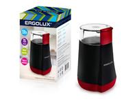 ERGOLUX  ELX-CG02-С43 черно-красная (электрическая кофемолка130 Вт, 220-240 В, объем 70 гр)