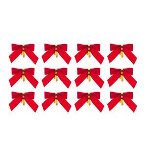 Бантик на листе 12шт красный - купить заказать цена фото