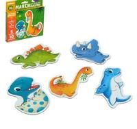 Макси-пазлы «Малыши-динозавры», 5 пазлов, 10 деталей