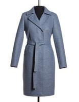 Блюз утепленное пальто (Синее)