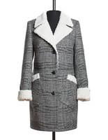 Ава утепленное пальто (Черно-белое)