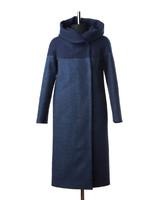 Кристал утепленное пальто (Синее)
