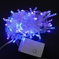 Гирлянда светодиодная 100 ламп 8м голубое свечение DR23*60