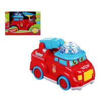 Игрушка Автомобиль пожарный музыкальный с проектором, свет, звук, движение, 3АА, пластик, 16х9х12см