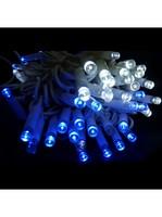 Гирлянда электрическая 140ламп синий и белый свет, 091B