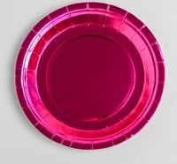 Тарелка бумажная набор 6шт, цвет розовый