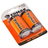 Батарейки Ермак Alkaline 2шт LR20 1,5В