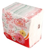 Салфетка бумаж 25*25 Семья и комфорт Цветок 100шт