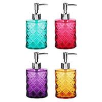 """Дозатор для жидкого мыла VETTA """"Ромбо"""", пластик, 8,3х5,7х17см, 4 цвета"""