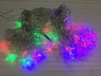 Гирлянда светодиодная 40 ламп LED 6м снежинки/звезды ассорти