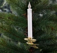 """Украшение елочное """"Новогодняя свеча"""" 2шт, 11см, белый"""