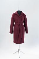 Офелия утепленное пальто (Бордо)