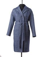 Шакира демисезонное пальто (синий)