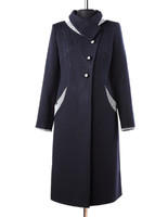 Саяна демисезонное пальто (синий)